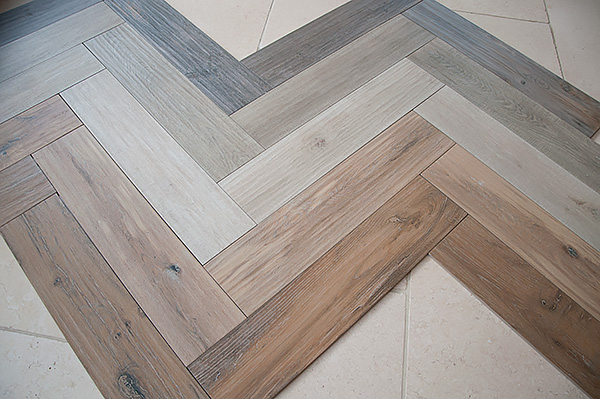 Floors Of Stone Herringbone Pattern Tiles