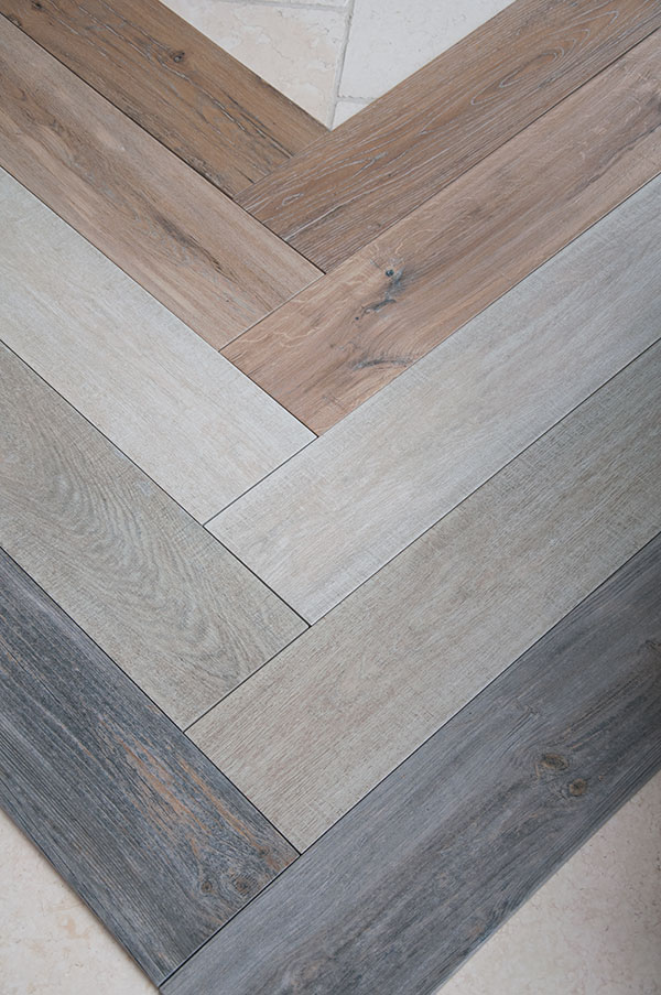 The Wood Effect Porcelain Tiles Come In From Bottom To Top Above Picture Reclaimed Oak Vintage Nordic Aged And Rustic