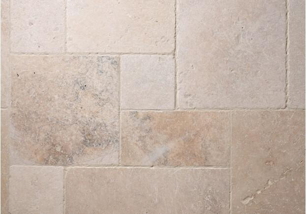 Country mix tumbled travertine tiles floors of stone for Country floors tile