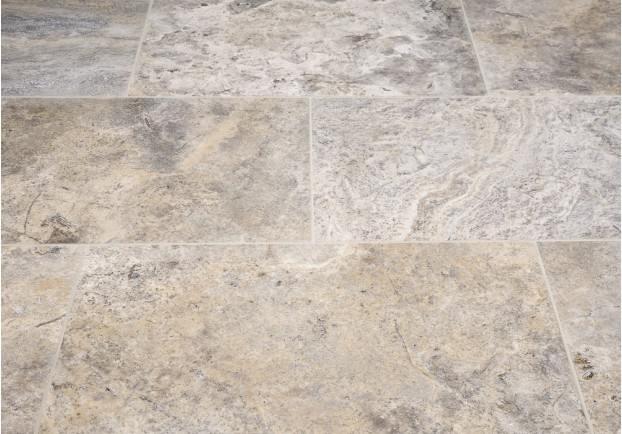 Silver Honed Travertine Tiles Floors Of Stone