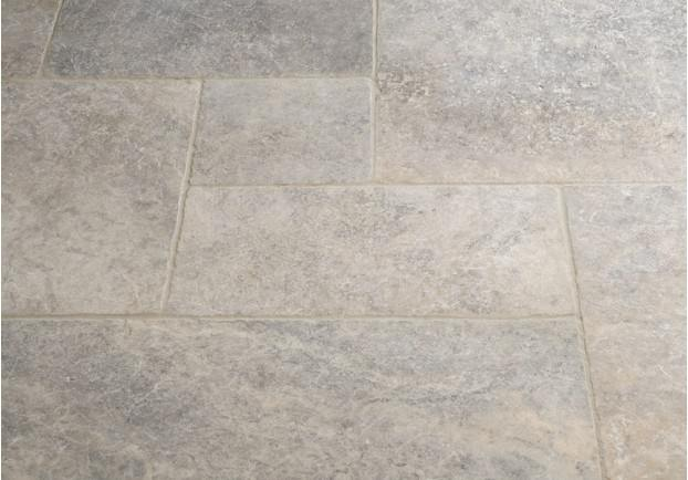 Silver Tumbled Travertine Tiles Floors Of Stone