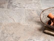 Silver Honed Travertine Tiles thumb 1