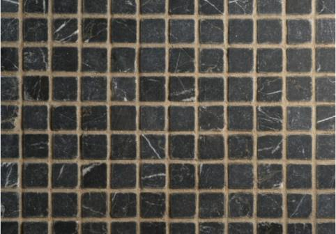 Black Tumbled Marble Mosaic Tiles