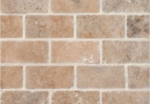 Light Tumbled Travertine Mosaic Tiles