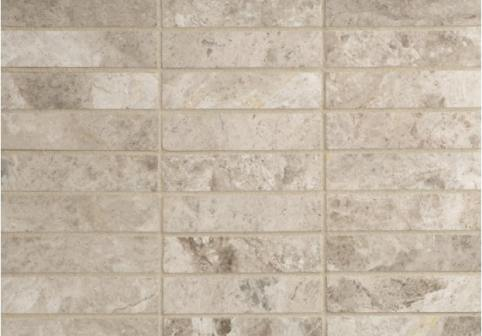 Silver Shadow Polished Marble Mosaic Tiles