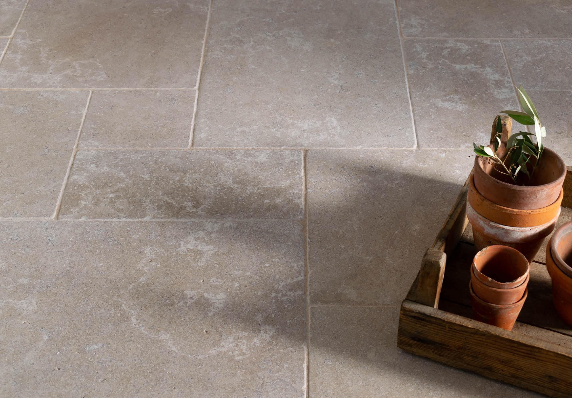 Dove Grey Tumbled Limestone Floors Of Stone