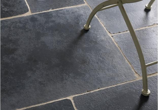 Rough Black Limestone Tiles Floors Of Stone