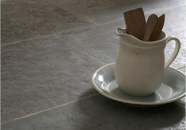 Hand Dressed Antiqued Ash Limestone Tiles