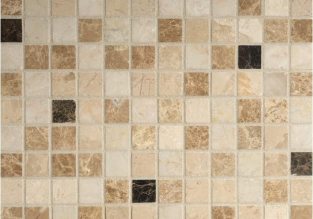 Mixed Polished Marble Mosaic Tiles