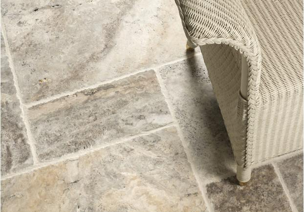 Silver Brushed Travertine Tiles