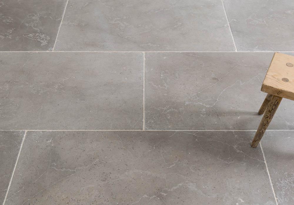 Dove Grey Brushed Limestone Floors Of Stone