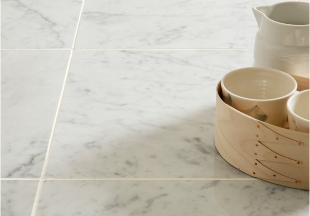 Bianco Carrara C Polished Marble Tiles | Floors of Stone