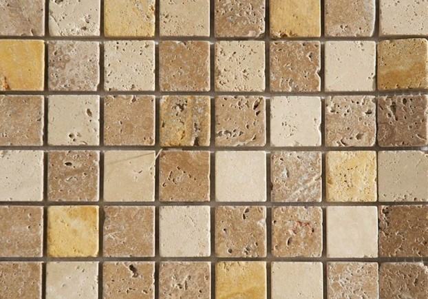 how to cut travertine mosaic tiles