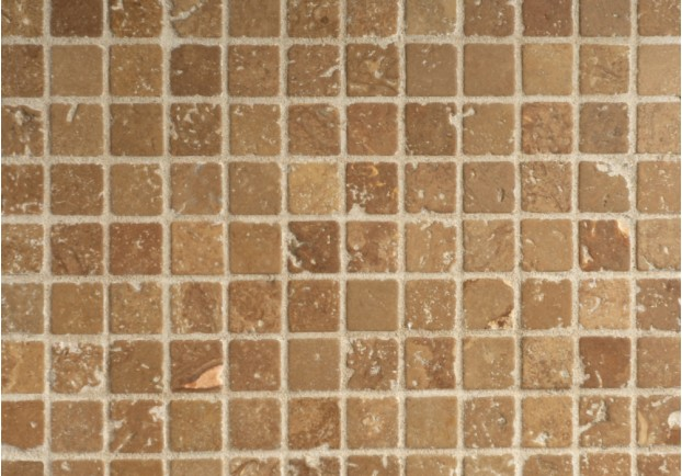 Noce Tumbled Travertine Mosaic Tiles