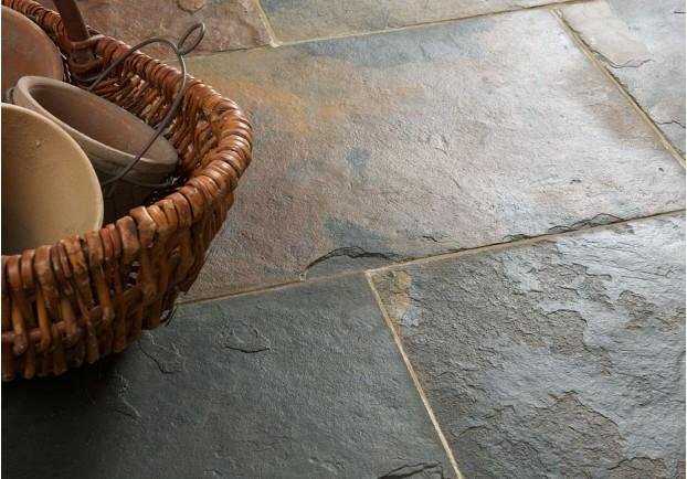 Rustic Multicolour Slate Tiles Floors Of Stone